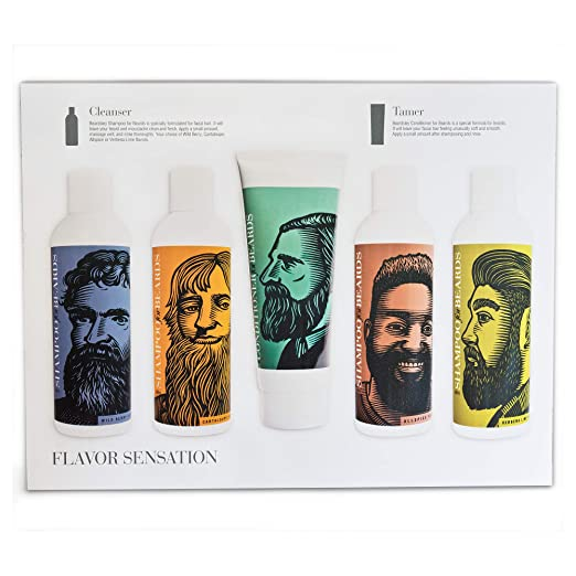 4. Beard Shampoo, Wash and Conditioner Set - Best Strengthening Beard Shampoo and Conditioner