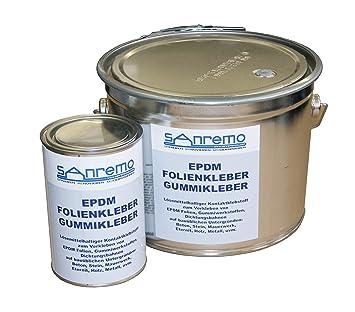EPDM - Pegamento para láminas de goma (4 kg, cubo + lata de 800 g): Amazon.es: Bricolaje y herramientas
