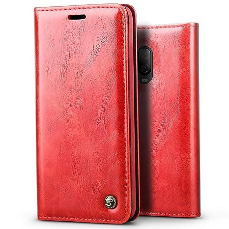 5eed4e8e15c BELKA Coque OnePlus 6T Housse de téléphone Style Livre Vintage étui en Cuir  Brillant pour Portefeuille