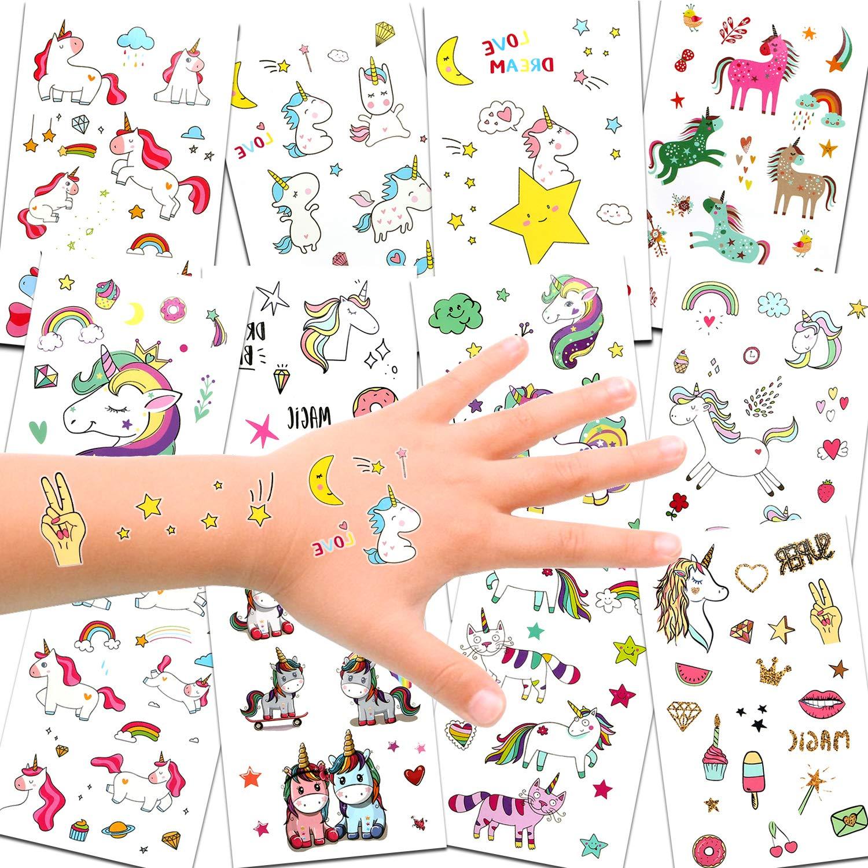694693c26 Unicorn Temporary Tattoos for Children Kids Girls(Over 300pcs),Konsait  Great Girls Fake Stickers Rainbow Unicorn Birthday Party Favors Birthday  Party Gift ...