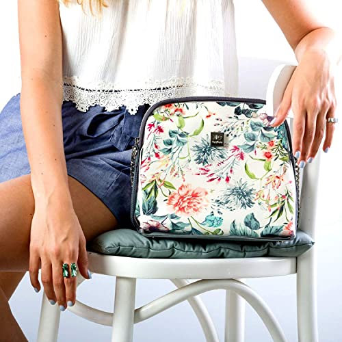 ab92b768ebdd Image Unavailable. Image not available for. Color  Multi Floral Everyday Crossbody  Bag for Women ...