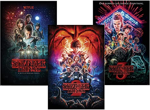 Close Up Set de 3 Pósters Stranger Things - [Temporadas 1,2 & 3 ...