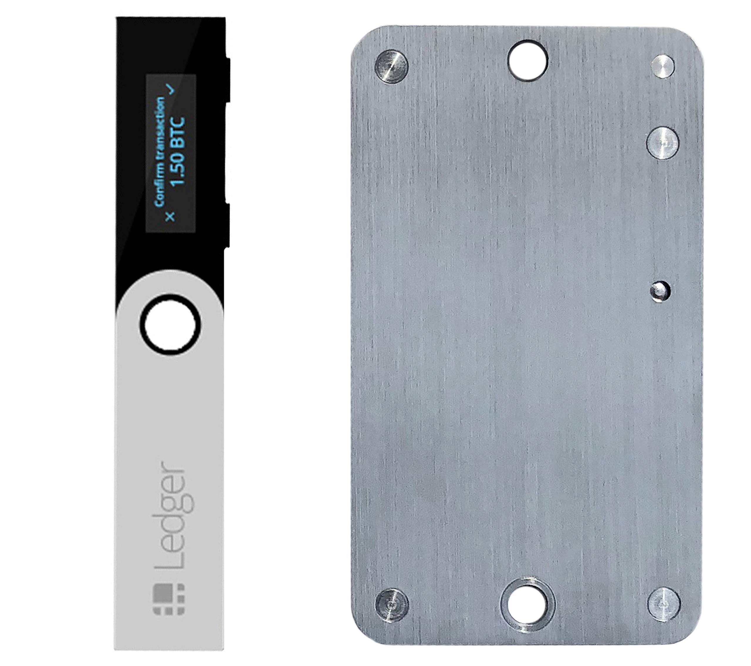 Ledger Nano S Cryptocurrency Hardware Wallet with SteelWallet Cold Seed Storage (2 items)