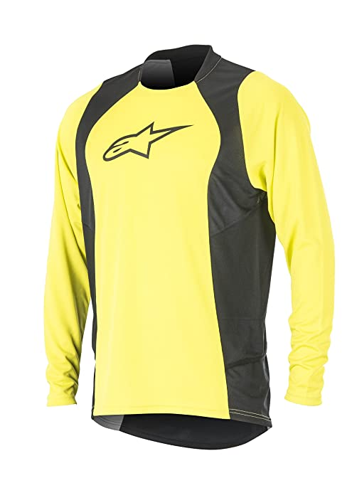 Alpinestars Men's Drop 2 Long Sleeve Jersey, Small, Acid Yellow Black