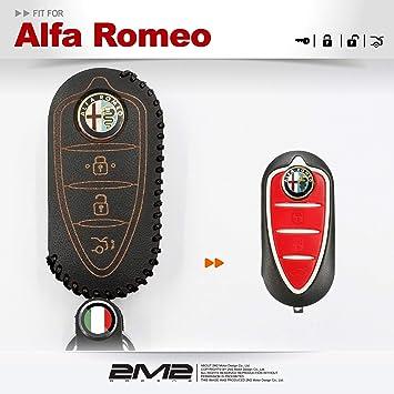2M2 - Funda de Piel para Llavero de Alfa Romeo 159 Mito ...