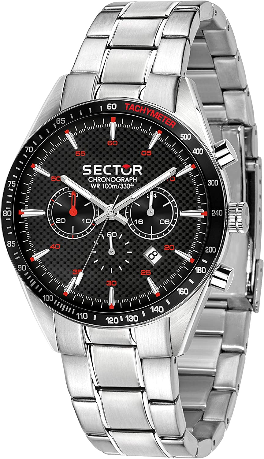 Sector No Limits Men s 770 Quartz Sport Watch with Stainless-Steel Strap, Silver, 22 Model R3273616004