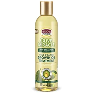 AFRICAN PRIDE Olive Miracle Growth Oil, 8 Oz (Pack of 3)