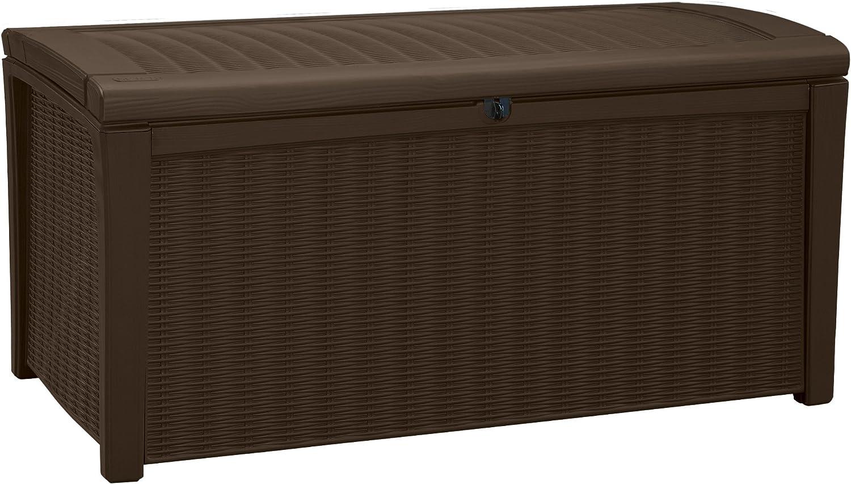 Keter Borneo 110 Gallon Resin Deck Box-Organization and Storage for Patio Furniture