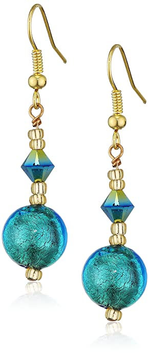 Valentina Murano Glass Kingfisher Drop Earrings lzxLz
