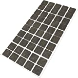 50 Feltrini, 20x20 mm, marrone, di spessore 3.5 mm, Mobili scivola - protezione antigraffio, autoadesiva - feltro autoadesiva - di alta qualità, quadrato 20x20 mm (1x50)