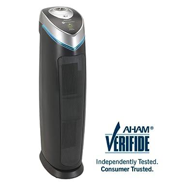 "Germ Guardian AC5000 28"" 3-in-1 True HEPA Filter Air Purifier for Home, Large Rooms, UV-C Light Kills Germs, Filters Allergies, Smoke, Dust, Pet Dander, & Odors, 5-Yr Wty, GermGuardian, Grey"
