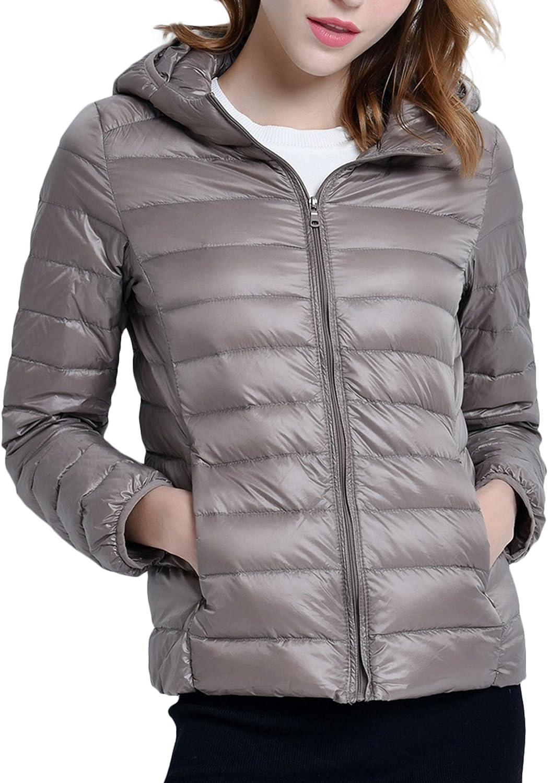 ZSHOW Womens Packable Hooded Lightweight Down Jackets Puffer Coats