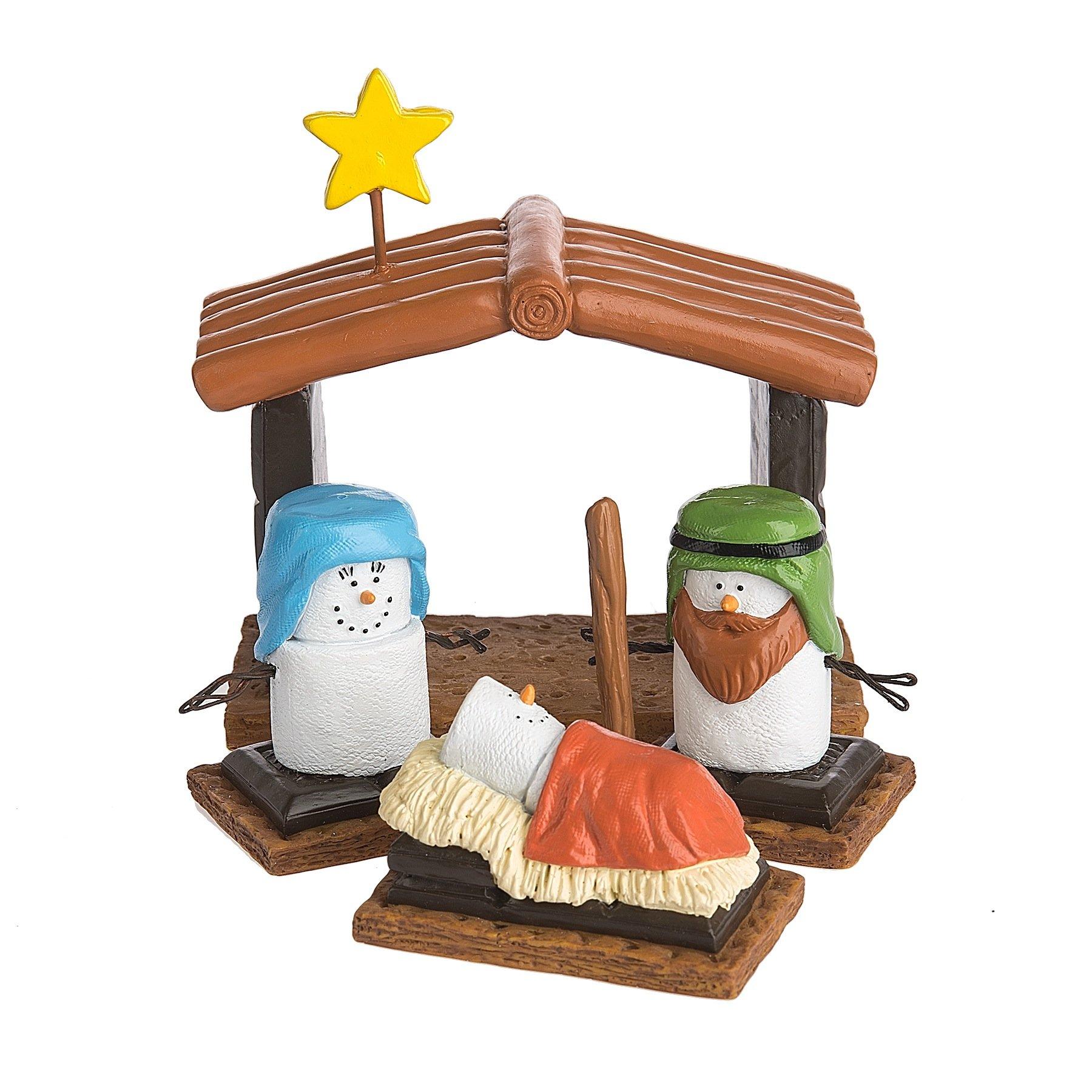 Christmas Decoration S'mores Nativity Scene 4 Piece Set
