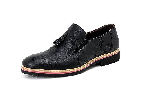 HOMBRE SIN CIERRES Inteligente Borla Zapatos Casual Mocasines: Amazon.es: Zapatos y complementos