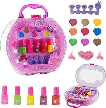 Colmanda Juguetes de Maquillaje Niños, 18 Piezas Kit de Maquillaje para Niñas Juego de Juguetes de Maquillaje, Cosméticos Belleza Juguetes Juego de Maquillaje Lavable para Niños: Amazon.es: Juguetes y juegos