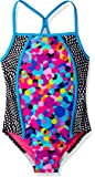 Speedo Big Girls Diamond Geo Splice One Piece Swimsuit
