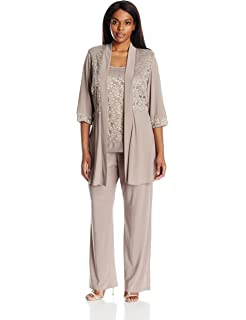 eca4820a5c402 R M Richards Women s Plus Size Two Piece Glitter and Lace Pant Set ...