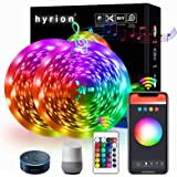 50FT WiFi Smart LED Strip Lights, Works with Alexa, Google Home Brighter 5050 RGB Light Strips, hyrion 16 Million Colors…