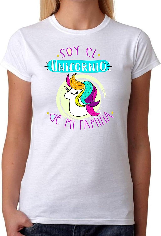 Camiseta Soy el Unicornio de mi Familia Camiseta para Gente Divertida de Regalo para Amigas. Grupos de Despedida Soltera, Fiestas, Feria, Amistad.