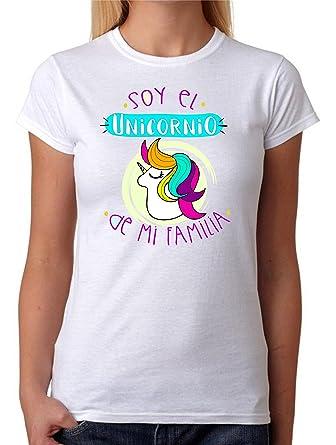 Camiseta Soy el Unicornio de mi Familia Camiseta para Gente Divertida de Regalo para Amigas.
