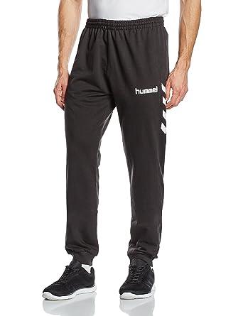 new products aa4a9 79c8d Hummel Baumwoll-Sporthose Herren lang – CORE COTTON PANT – Fitnesshose in  Schwarz - Jogginghose Komfort - Laufhose mit 320 g/m2 - Hose für Sport & ...