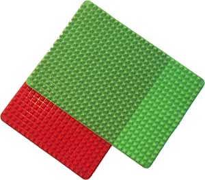 2 Set Silicone Baking Mat. Non-stick, Half Sheet, Fat Reducing Oven Liners for Healthy Cooking.