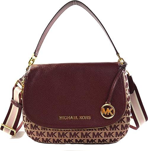 Michael Kors Bedford Leather & MK Canvas Medium Convertible