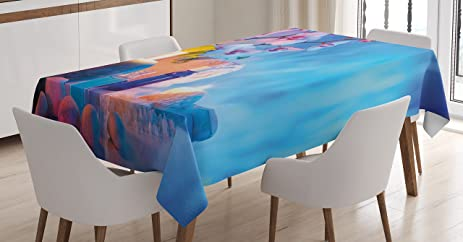 Spa Tablecloth By Lunarable, Preparation For Bath Massage In Garden With  Stones Flowers Essential Oils