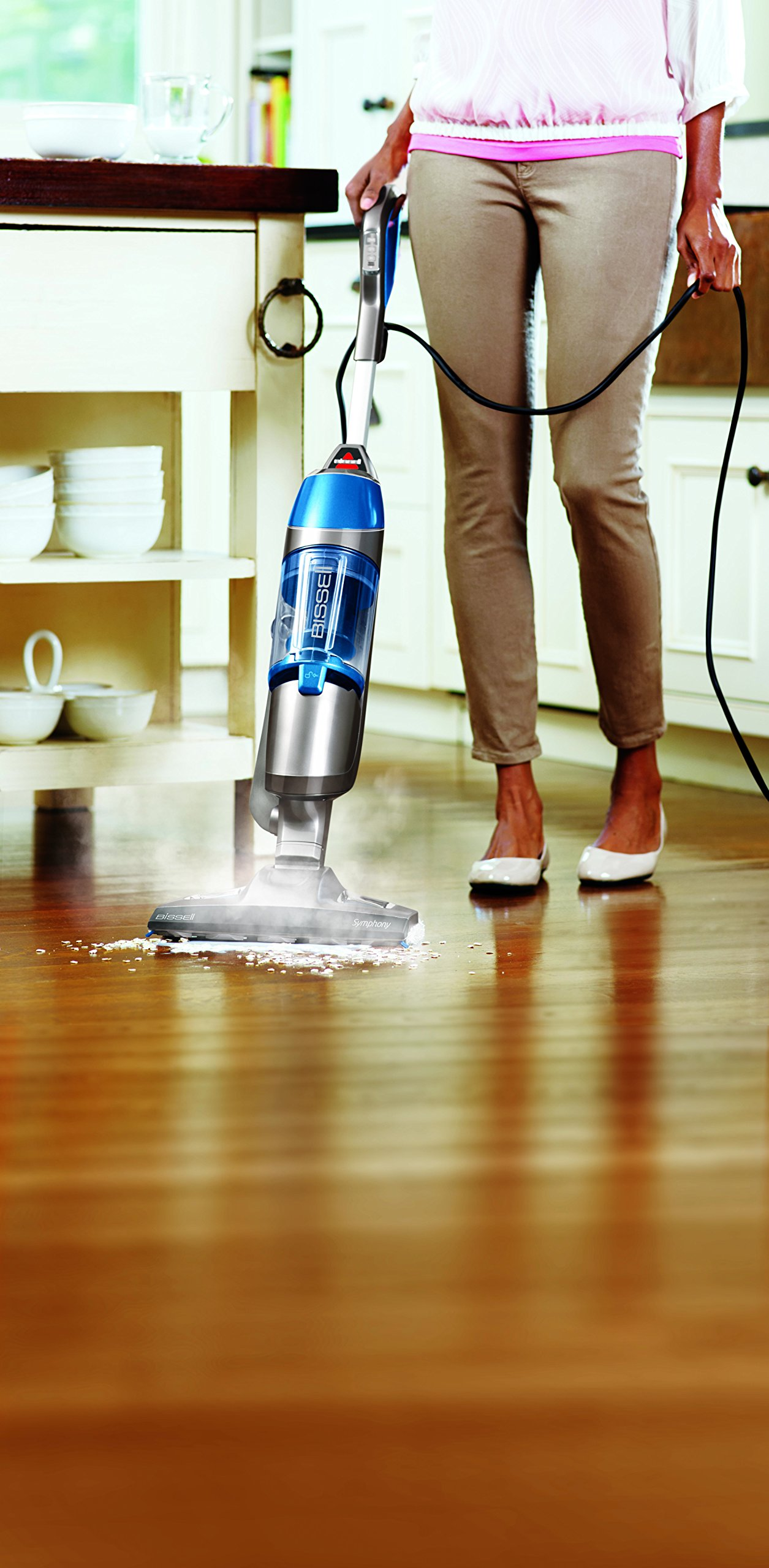 Bissell Symphony Steam Mop and Steam Vacuum for Hardwood and Tile Floors, 4 Mop Pads Included, 1132A by Bissell (Image #6)