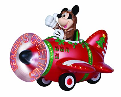 precious moments disney showcase collection christmas gifts led mickey mouse plane - Disney Christmas Gifts