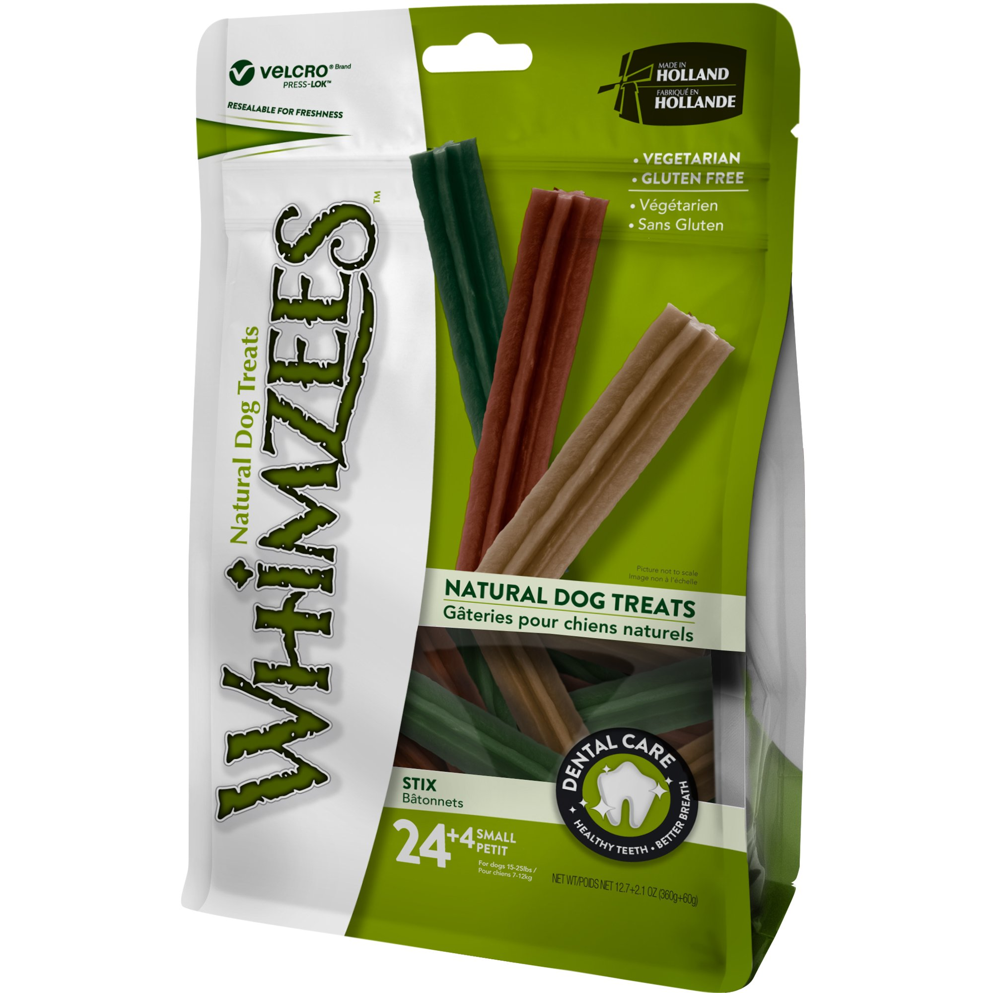 Whimzees Natural Grain Free Dental Dog Treats, Small Stix, Bag 28