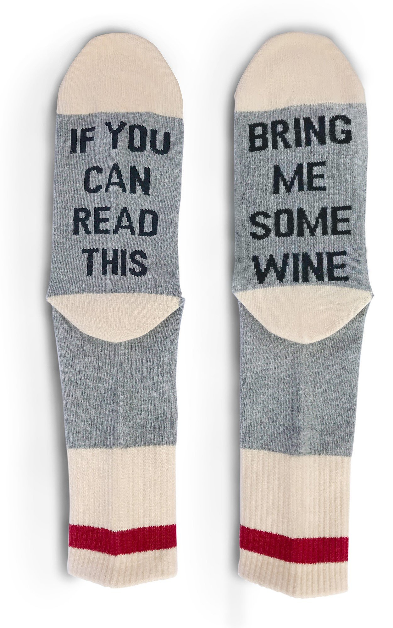 TheOnly Wine Gift Wine Socks - and Gift Box''If you can read this bring me some wine'' Perfect Christmas Gift for Wine Lovers, Birthdays, White Elephant, Mother Gift, Wife or Best Friend Wine Socks by The Only Gift Worth Giving (Image #4)