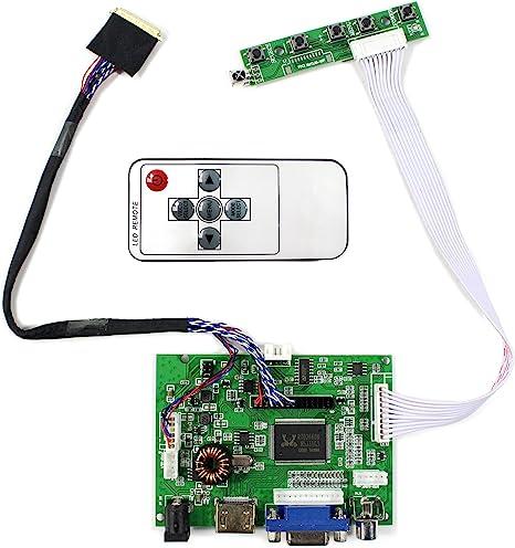 HDMI+VGA+AUDIO LCD Controller Board For 15.6 B156XW02 LP156WH2 1366x768 W//Remote