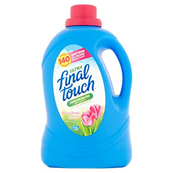 Final Touch Ultra Spring Fresh Concentrated Fabric Softener, 140 Loads, 120 Fl Oz (