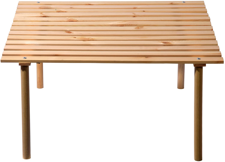 Campingtisch Holz.Dobar Klappbar Tiefer Campingtisch Aus Holz Inklusive