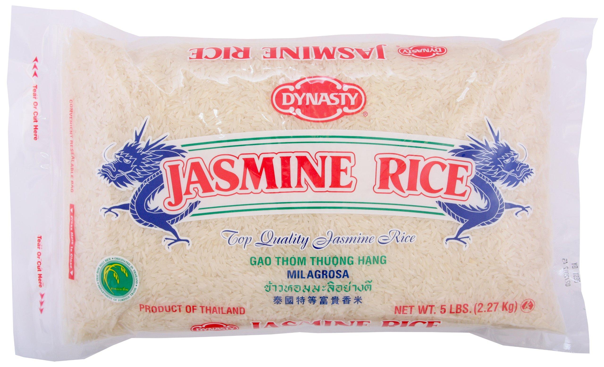 Dynasty Rice Jasmine, 5-pounds (Pack of 3)