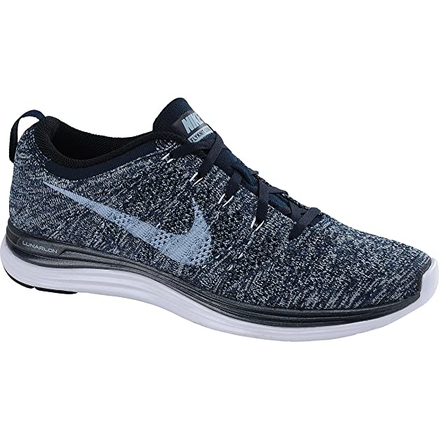 new arrival 0227e 69c33 ... free shipping amazon nike mens flyknit lunar1 dark obsidian lt armory  blue sqaudron bl navy 13