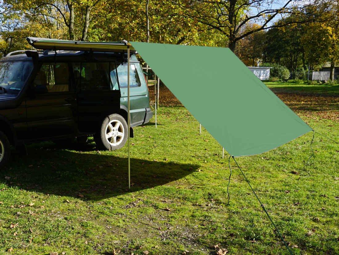 Tarp / Erweiterung zu Fahrzeugmarkise 250cm in grün von Prime Tech