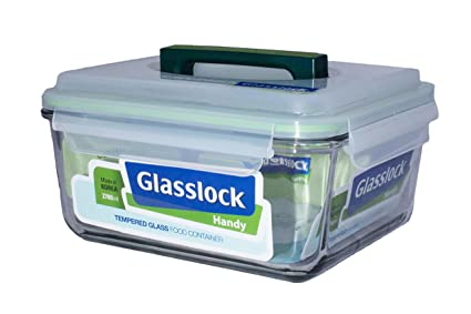 Glass Lock Handy Storage Container, 2.7 Litres Jars & Containers at amazon