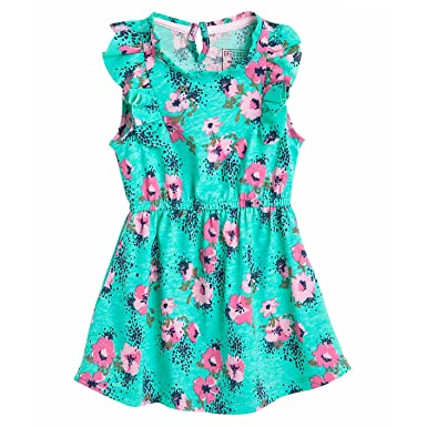 OFFCORSS Short Sleeve Flower Girl Dress Ropa para Niña Vestidos Cortos Green 2T