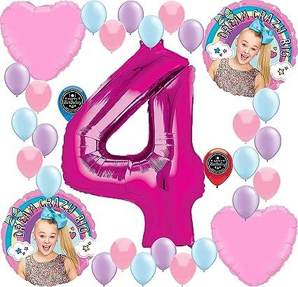 Amazon JOJO SIWA Party Supplies Birthday Balloon Decoration Bundle For 4th Toys Games