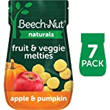 Beech-Nut Naturals Fruit & Veggie Melties Stage 3, Apple & Pumpkin, 3 Simple Ingredients, Baby and Toddler Snacks, 7 Count, 1