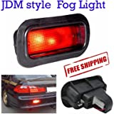 Honda Rear Bumper Red Fog Light Civic EG Delsol EK CRx EF8 Integra DC2 DB8 EG9