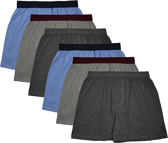 MioRalini 6 Boxer Corto para Hombre 100% algodón, Material Suave con y sin intervención Talla 5-13: Amazon.es: Ropa y accesorios