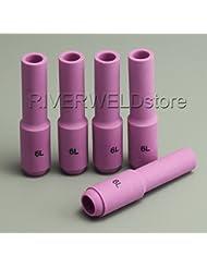 10N48L 6L# Long Alumina Nozzles Fit SR PTA DB WP 17 18 26 TIG Welding Torch 5PK