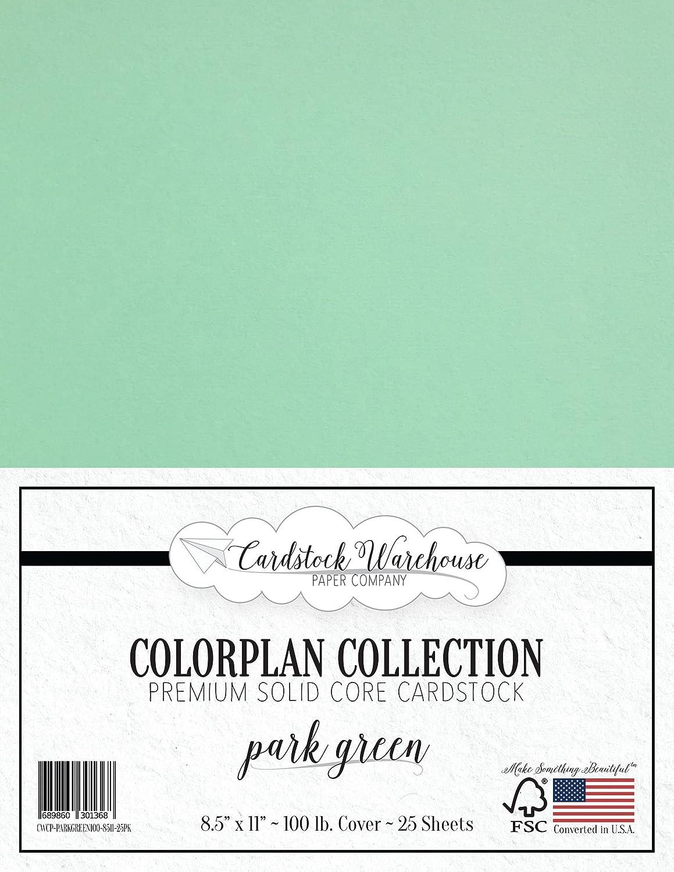 Park Green 厚紙 8.5 x 11インチ プレミアム 100ポンド カバー - Cardstock Warehouse 25枚 B01MXM9A7I