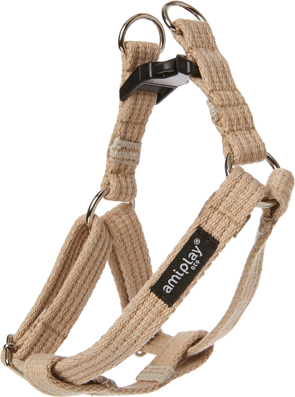 Ami Play algodón Perro arnés Suave y Duradero con Asas Ajustables, pequeño, Color Beige: Amazon.es: Productos para mascotas