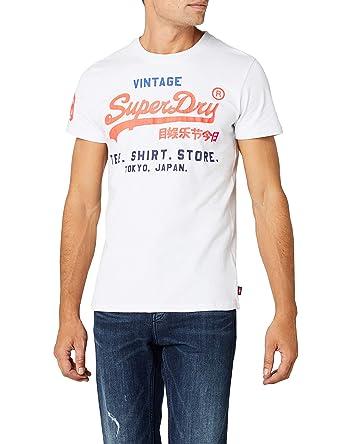 7787683e257f37 Superdry Men's Shirt Shop Tri Tee T: Amazon.co.uk: Clothing