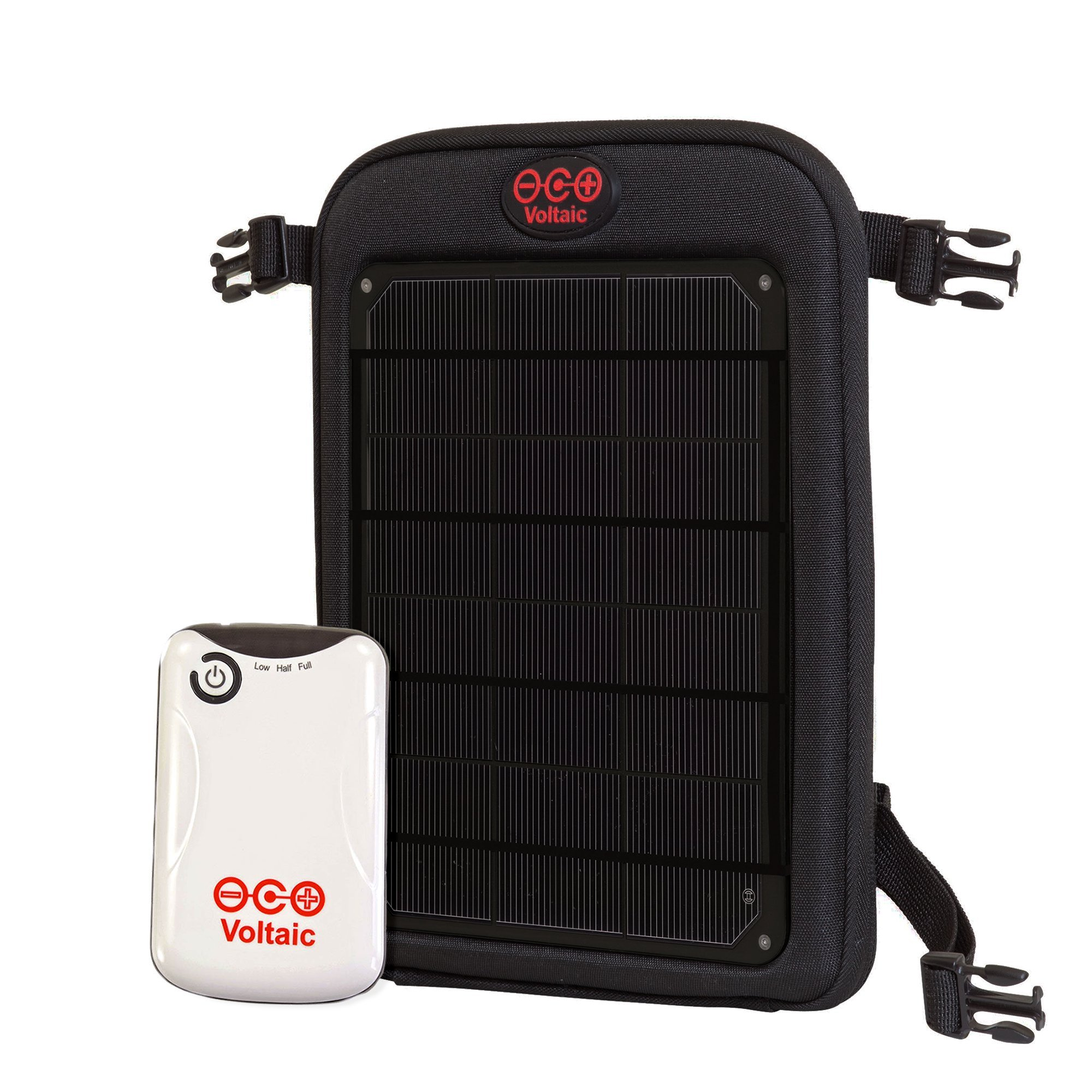 Voltaic Systems - Fuse 6 Watt USB Solar Charger with Backup Battery Pack - Charcoal | Powers Phones, Tablets, DSLR cameras, & More | Charges Your Phone as Fast as at Home | Portable Powered Panel