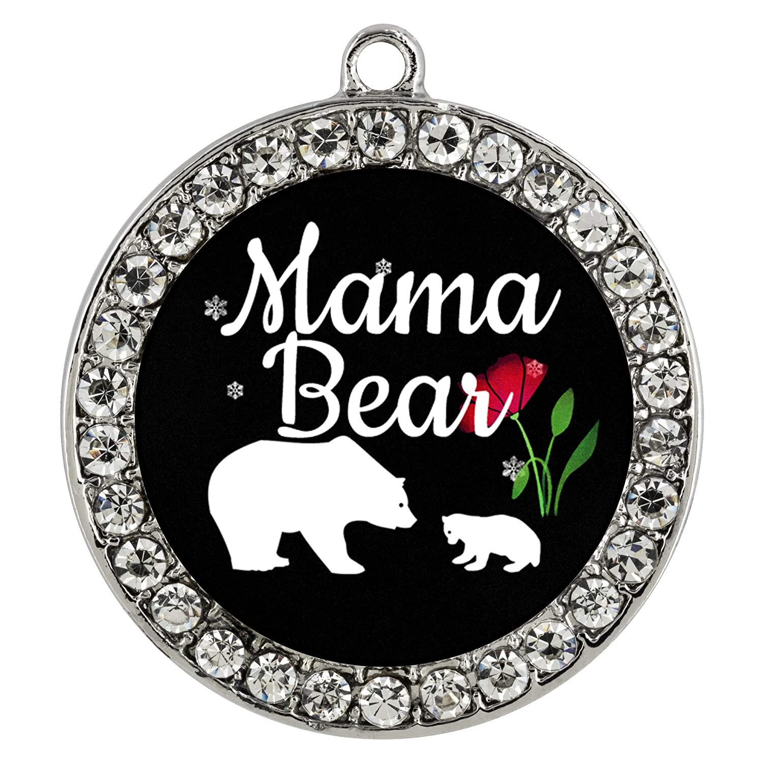 with Lock and Key from Papa Bear SmallWonderGifts Mom of 1 Kid Boy Best Mama Bear Charm Bracelet for New Mother Women